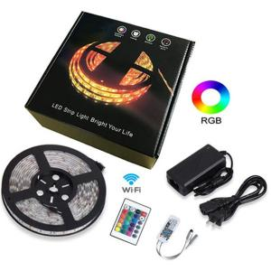 Wholesale Waterproof RGB LED Strip Light with WIFI controlled Red Blue and Green Multi-Color from china suppliers