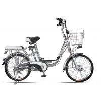 Wholesale 20 Inches Battery Powered Bicycles Sliver Commuter Electric Bike 48V8Ah from china suppliers