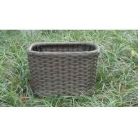 Buy cheap Strong Plastic Rattan Storage Boxes , Brown Rattan Storage Case from wholesalers