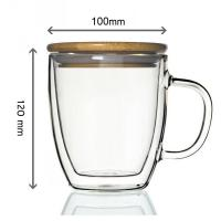 Wholesale Hot sale 350ML high borosilicate double wall glass espresso cup from china suppliers