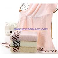 Wholesale 2016 Hot sale pretty Jacquard zebra textured bath towels from china suppliers