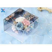 Wholesale Light Weight Mirror Acrylic Flower Box For Dry Fresh Flowers Non Flammable from china suppliers