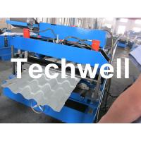 China Glazed Tile Roll Forming Machine With 22 Forming Stations For Metal Roof Panel on sale