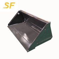 China Hot sale construction machinery attachments,skid steer loader parts standard bucket for unloading materials on sale