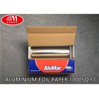 Wholesale Catering Aluminium Foil Roll  Aluminum Foil Paper 12In X 11 Micron X 1000Ft With Metal Cutting Good Pack from china suppliers