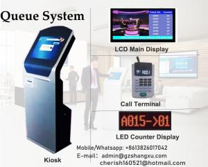 Wholesale Wired and Wireless Touch Screen Ticket Dispenser Based Electronic Queuing Number System from china suppliers