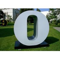 Wholesale Letter O Garden Free Standing Sculpture Large Stainless Steel letter Sculpture from china suppliers