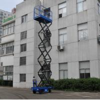 Wholesale Manganese Steel Mobile Scissor Lift  Electrical Pulling Loading 450kg from china suppliers