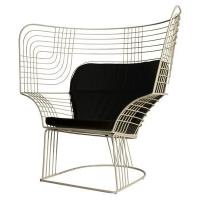 Wholesale Outdoor Showroom Link Easy Chair Furniture With Varnished Steel Tom Dixon Design from china suppliers