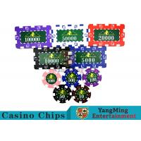 Wholesale Translucent Marco Style Casino Poker Chip Set With Crystal Clear Texture from china suppliers
