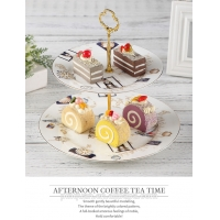 Wholesale Two Layer Cake Stand SGS Porcelain Serving Set from china suppliers