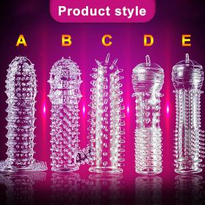 Wholesale Silicone 12.5*3.5cm Men'S Penis Covers Finger Cock Ring from china suppliers