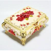 China Elegant Rose Golden trinket box for mothers day gifts with High-grade Velvet inner,Environmental electroplating on sale