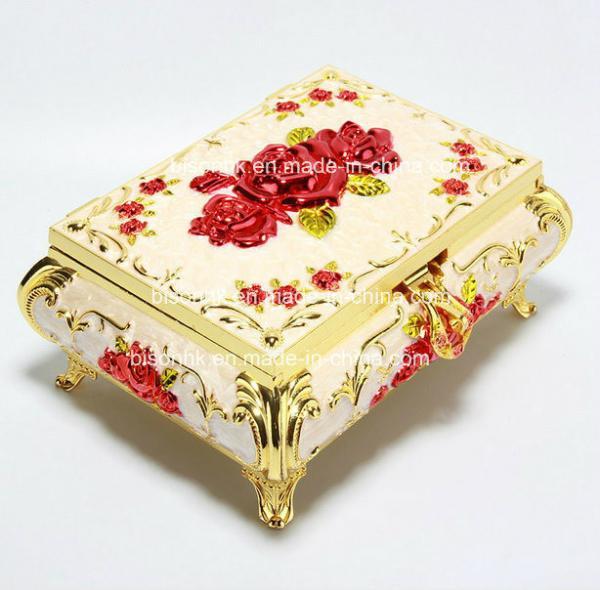 Quality Elegant Rose Golden trinket box for mothers day gifts with High-grade Velvet inner,Environmental electroplating for sale
