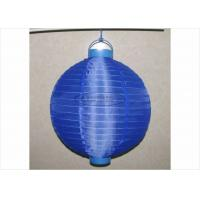 Wholesale 30 Cm Led Paper Lanterns Battery Operated , Silk Nylon Fabric Outdoor Hanging Paper Lanterns from china suppliers