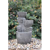 China Hand Cast Indoor / Outdoor Tiered Water Fountains In Faux Stone Bowl wholesale