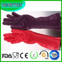 Quality Wholesale High Quality Silicone Heat Resistant Oven Gloves , New Product Hot for sale
