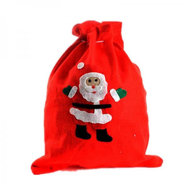 Wool drawstring bag merry christmas gift of item