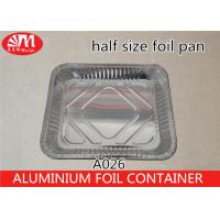 Wholesale Half Size Disposable Cooking Trays , 3400ml Volume Aluminum Pie Pans With Lids from china suppliers