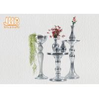Wholesale Silver Mirror Mosaic Fiberglass Pedestal Plant Stand Round Telephone Table from china suppliers