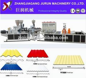 China pvc corrugated roof sheet making machine/price of corrugated pvc roof sheet wholesale