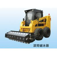 China 600kg Excavator / Backhoe Wheel Skid Steer Loader With Enclosed Cabin on sale
