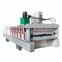China Roof Use Corrugated Profile Steel Roofing Sheet Roll Forming Machine on sale
