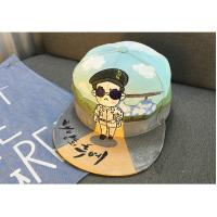 100%Cotton Fabric hand-drawing design hiphop  snapback hat for Adult 3D embroided  adjustable