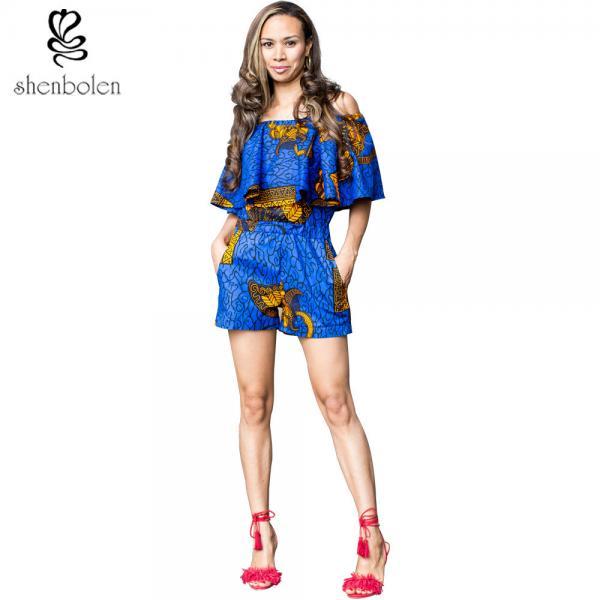 606a13f20e Crop Top African Print Short Jumpsuit   Playsuit Beautiful Ankara ...
