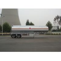 Wholesale 30400L Carbon Steel Tanker Trailer , 2 Axles Diesel Liquid Fuel Tanker Semi Trailer from china suppliers