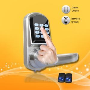 Wholesale Elegant Design Pass Code Door Locks , Remote Control Front Door Lock 154*68*78mm from china suppliers