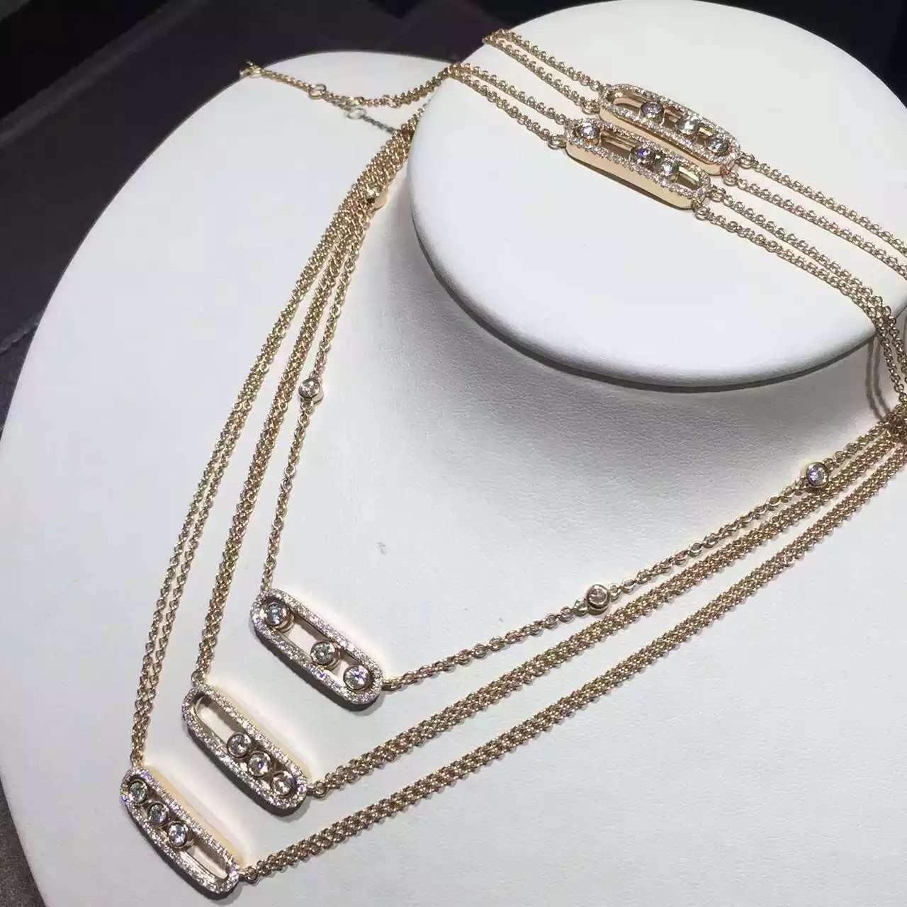 china messika move diamond necklace in yellow gold paris fine jewelry