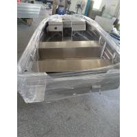 Wholesale High Precision Aluminum V Hull Boat , V Bottom Boats With Fishing Platform 3.7m from china suppliers