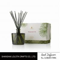 Wholesale Blackish green color bottle with natural stick and rigid gift box from china suppliers