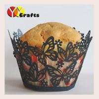 Wholesale Laser Cut Butterfly Cupcake Wrappers Wedding Party Cup Cake Liners from china suppliers