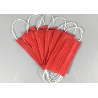 Wholesale Anti Spray 3 Ply Red OEM Disposable Earloop Mask from china suppliers
