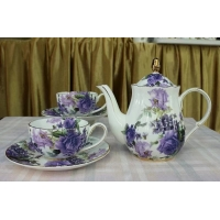 Wholesale Decal Humanized Handle Porcelain Reusable Bone China Tea Cups from china suppliers