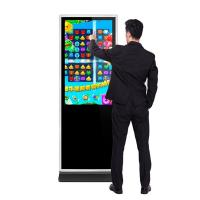 Wholesale 43 49 55 65 inch floor stand alone hd lcd infrared touch interactive digital signages computer Intel i3 IR touch screen from china suppliers