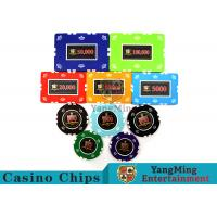 Wholesale Circular / Square Shape Professional Poker Chip Set With 25 Pcs In A Shrink Roll from china suppliers