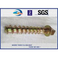 Buy cheap 8.8 Grade 45# steel coach screws Spike with yellow zinc coating from wholesalers