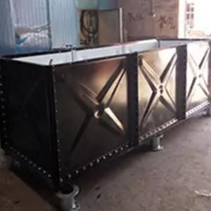 China Anti Corrosion Modular Water Tank , 2 - 4 Mm Enamel Bolted Steel Storage Tanks on sale