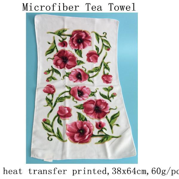 Bulk Dish Towels For Sale: Printed Flower Microfiber Dish Towel Kitchen Towel Of Item