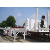 Wholesale 3 Axles 40ft Tipping Skeleton Semi Trailer Chassis For Container Dump Discharge from china suppliers