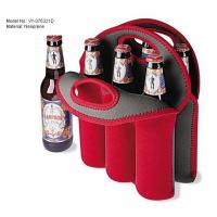 Wholesale Food grade Red reusable insulated lunch bags Neoprene , 6 can cooler bag from china suppliers