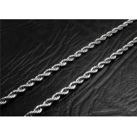 Wholesale Mens Stainless Steel Necklace Chain With A Lobster Claw Clasp , Customized Length from china suppliers