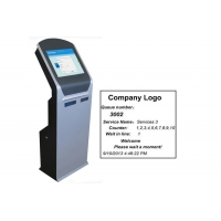 Buy cheap Electronic Queue Management System Ticket Dispenser Kiosk with Dual Thermal from wholesalers