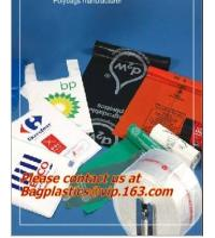 Vest handle sealing bags handle and plastic material for Custom plastic t shirt bags