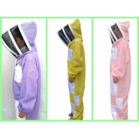 Wholesale New Type Three layer Ventilated Bee Suit Yellow , Pink, Purple Color from china suppliers