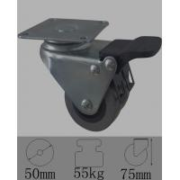 Wholesale Dual wheel caster with total lock brakes,swivel plate for trolley,50mm/2nylon wheel,china from china suppliers