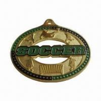Wholesale Medal, Made of Brass, OEM Orders and Customized Sizes/Shapes are Welcome from china suppliers